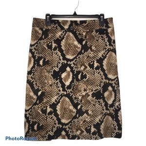 Allison Taylor snakeskin imitation skirt